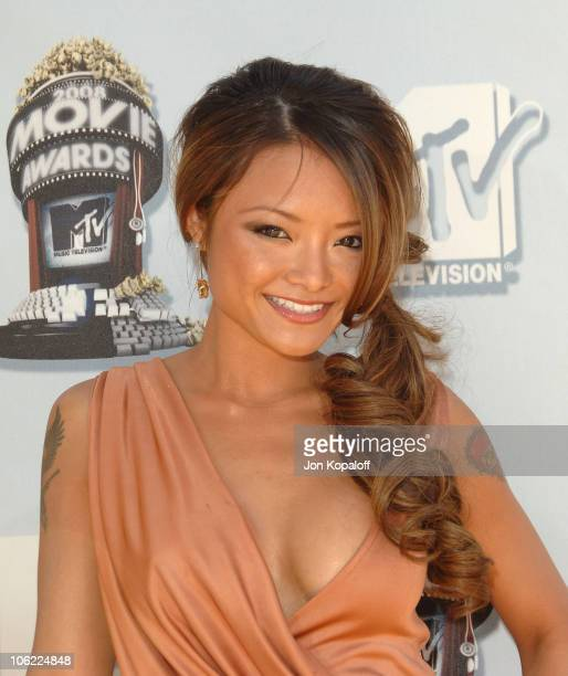 Television personality Tila Tequila arrives to the 2008 MTV Movie Awards at the Gibson Amphitheatre on June 1 2008 in Universal City California
