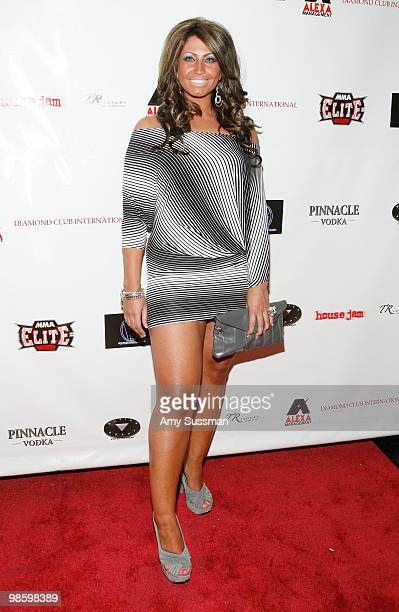 Television personality Tracy DiMarco attends TR Luxury's 1st Annual PreNFL Draft charity event at Manhattan Motorcars on April 21 2010 in New York...