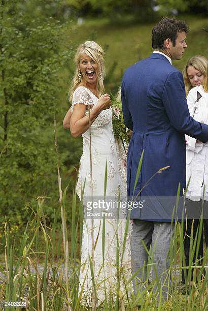 Television personality Ulrika Jonsson marries Lance Gerrard Wright August 16 in Varmdo Sweden