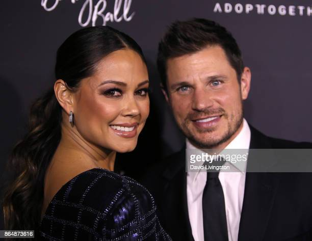 Television personality Vanessa Lachey and singer Nick Lachey attend the 7th Annual Baby Ball Gala at NeueHouse Hollywood on October 21 2017 in Los...