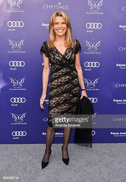 Television personality Vanna White arrives at the 13th Annual Chrysalis Butterfly Ball at a private Mandeville Canyon estate on June 7 2014 in Los...
