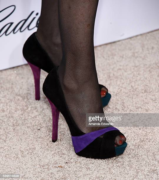 Television personality Vanna White shoe detail arrives at the 15th Annual Chrysalis Butterfly Ball on June 11 2016 in Brentwood California