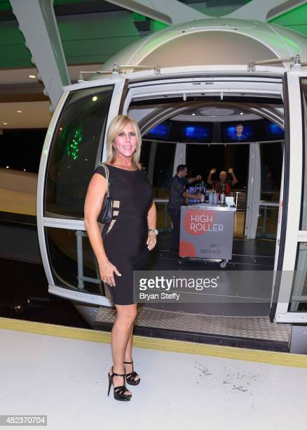 Television personality Vicki Gunvalson rides the world's tallest observation wheel, The High Roller at The LINQ on July 18, 2014 in Las Vegas, Nevada.