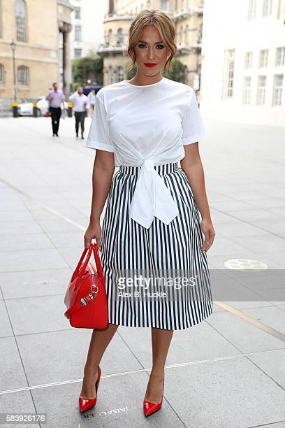 Television personality Vicky Pattison seen arriving at the BBC Radio 1 Studios on July 28 2016 in London England
