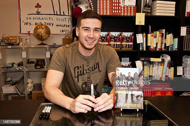 Television personality Vinny Guadagnino signs copies of his new book 'Control the Crazy' at Book Soup on May 2 2012 in West Hollywood California