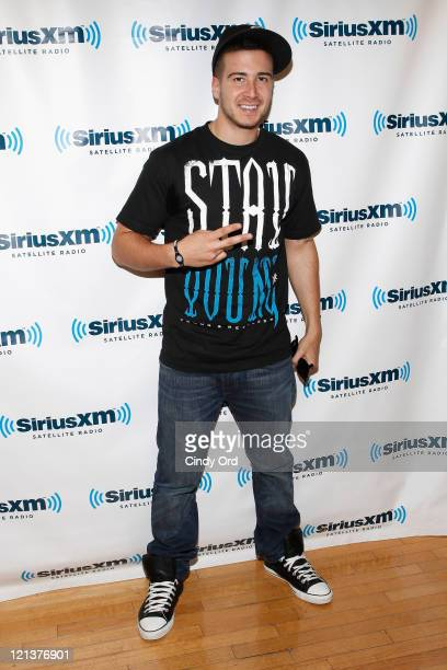Television personality Vinny Guadagnino visits the SiriusXM Studios on August 18 2011 in New York City