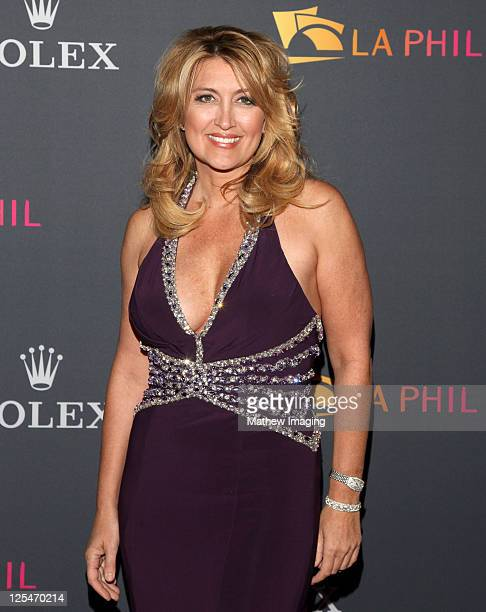 Television personality Wendy Burch arrives at the Los Angeles Philharmonic Opening Night Gala at the Walt Disney Concert Hall on October 7 2010 in...