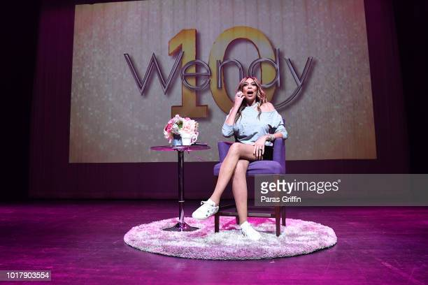 Television personality Wendy Williams speaks onstage during her celebration of 10 years of 'The Wendy Williams Show' at The Buckhead Theatre on...
