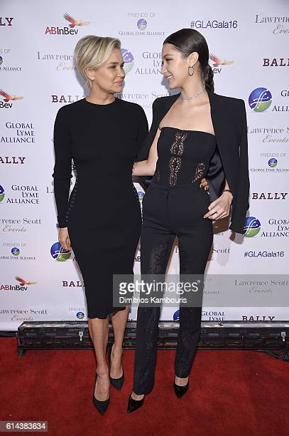 Television personality Yolanda Hadid and honoree Bella Hadid attend Global Lyme Alliance's second annual 'United For A LymeFree World' gala on...