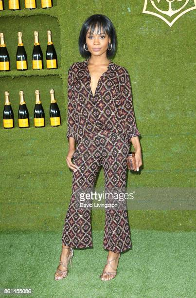 Television personality Zuri Hall attends the 8th Annual Veuve Clicquot Polo Classic at Will Rogers State Historic Park on October 14 2017 in Pacific...