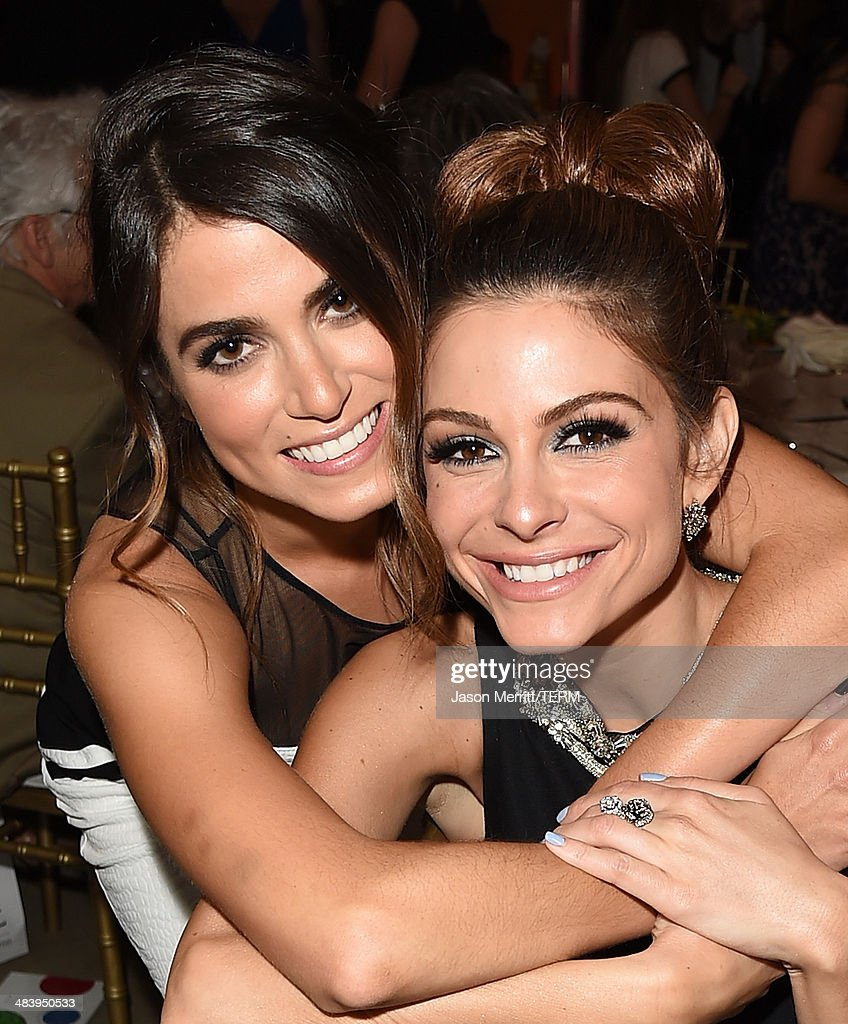 Television personality/actress Maria Menounos (R) and actress Nikki Reed attend The Kaleidoscope Ball – Designing the Sweet Side of L.A. benefiting the UCLA Children's Discovery and Innovation Institute at Mattel Children's Hospital UCLA held at Beverly Hills Hotel on April 10, 2014 in Beverly Hills, California.