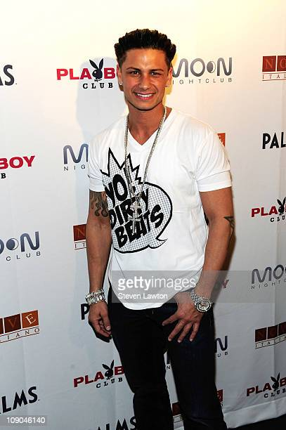 Television personality/DJ Pauly DelVecchio arrives to perform at Moon Nightclub at The Palms Resort & Casino on February 12, 2011 in Las Vegas,...