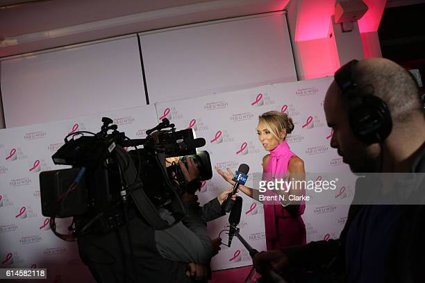 Television personality/event hostess Giuliana Rancic speaks to the media during The Pink Agenda's 2016 Gala held at Three Sixty on October 13 2016 in...
