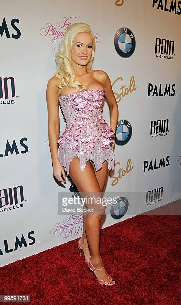 Television personality/model Holly Madison arrives at the 2010 Playboy's Playmate of the Year at The Palms Casino Resort on May 15 2010 in Las Vegas...