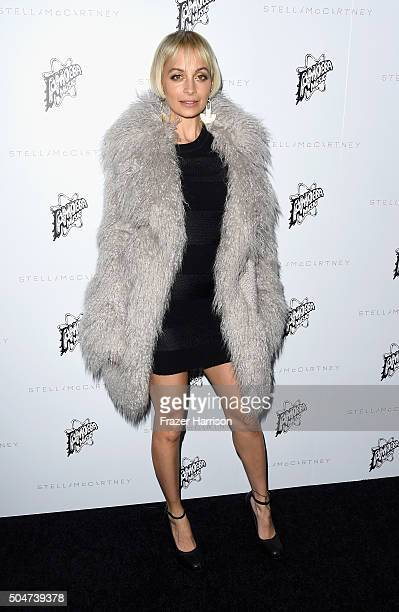 Television pesonality Nicole Richie arrives at Stella McCartney Autumn 2016 Presentation at Amoeba Music on January 12 2016 in Los Angeles California