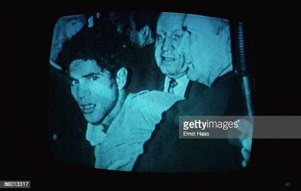 A television picture broadcast in May 1977 of Palestinianborn assassin Sirhan Sirhan being arrested after his shooting of United States Senator...