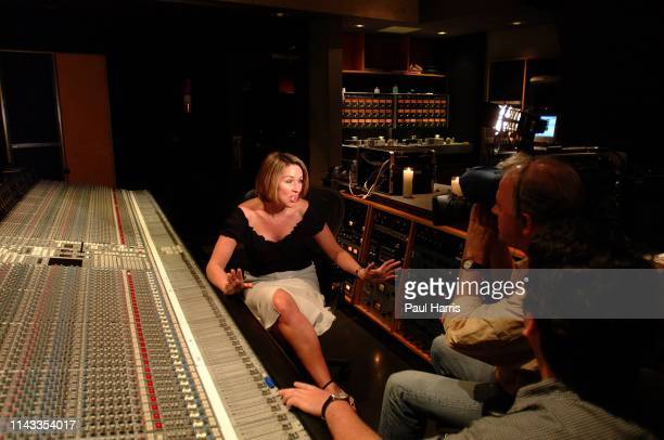 Television presenter actress and now pop star Claire Sweeney during the recording of her first album Claire at the Record Plant in Los Angeles April...
