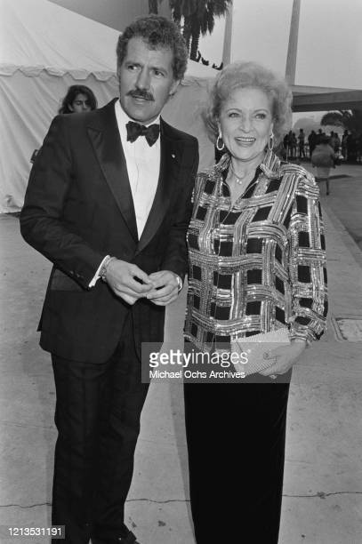 Television presenter Alex Trebek and actress Betty White attend the Third Annual Television Academy Hall of Fame induction ceremony in Santa Monica,...