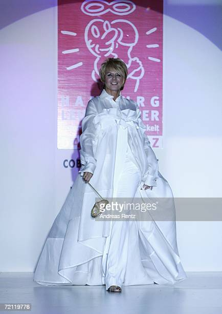 Television presenter Alida Gundlach walks down the runway at the Prominent Fashion Gala on September 8 2006 in Hamburg Germany