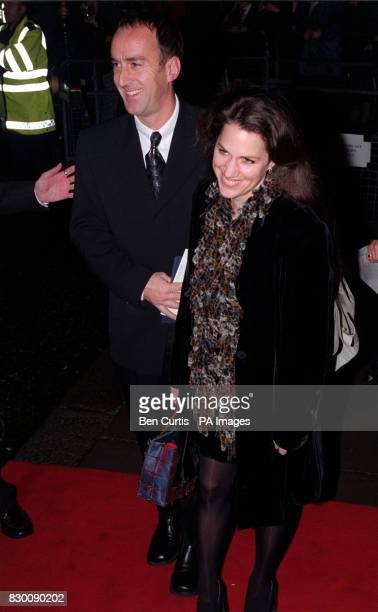 Television presenter and actor Angus Deayton arrives with Lisa Mayer at the Royal Albert Hall in London for the National Television Awards Mr Deayton...