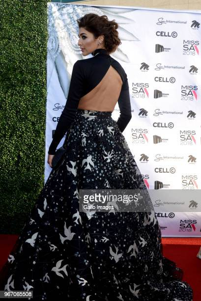 Television presenter and former Miss SA Vanessa CarreiraCoutroulis during the Miss SA 2018 beauty pageant grand finale at the Time Square Sun Arena...
