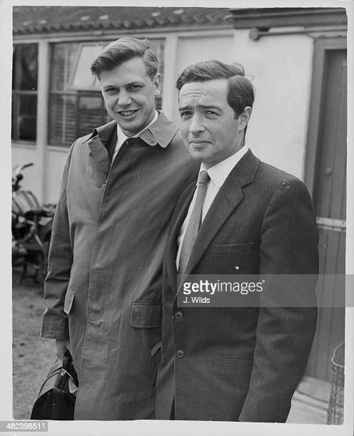 BBC Television presenter and producer David Attenborough with wildlife photographer Charles Lagus preparing to depart for New Guinea to make 'Zoo...
