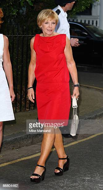 Television presenter Anne Robinson arrives at Sir David Frost's Summer Party on July 2 2009 in London England