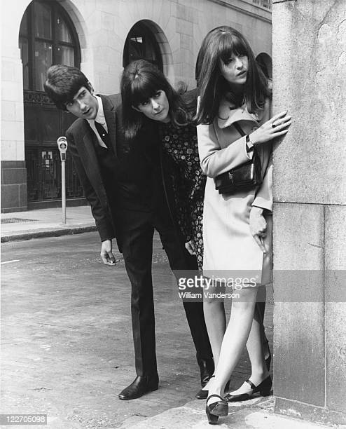 Television presenter Cathy McGowan outside the Savoy Hotel London with her brother John and sister Frankie 4th September 1965 McGowan presents the...