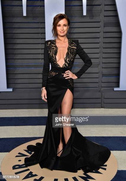 Television presenter Catt Sadler attends the 2018 Vanity Fair Oscar Party hosted by Radhika Jones at Wallis Annenberg Center for the Performing Arts...