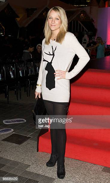 Television presenter Chloe Madeley attends the opening of the new Ed Hardy store at Westfield on December 1 2009 in London England