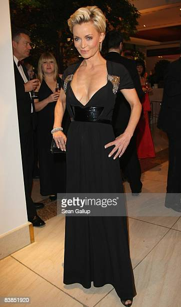 Television presenter Christiane Gerboth attends the Bundespresseball 2008 at the Intercontinental hotel on November 28 2008 in Berlin Germany