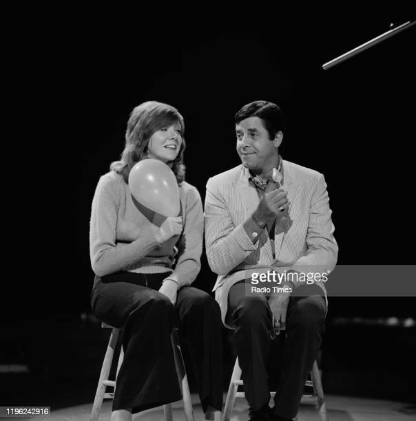 Television presenter Cilla Black and comedian Jerry Lewis in an episode of the BBC television show 'Cilla' 1970