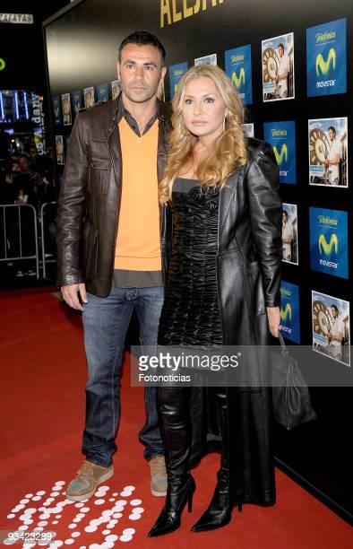Television presenter Cristina Tarrega and footballer Mami Quevedo attend the Alejandro Sanz concert at the Compac Gran Via Theatre on November 25...