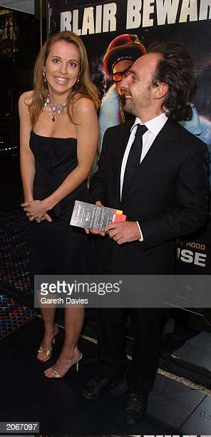 Television presenter Daisy Donovan and an unidentified companion arrive at the premiere of Ali Gs new film 'Indahouse' at the Empire Leicester Square...