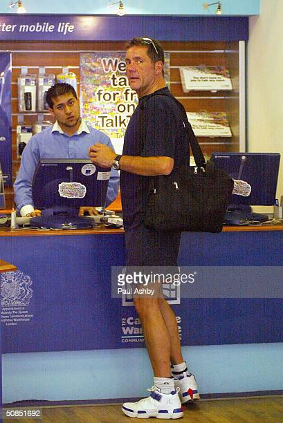 Television presenter Dale Winton is seen out with friends on May 18 2004 in Central London