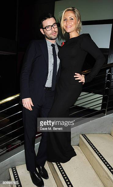 Television presenter Dave Berry and singersongwriter Heidi Range attend the aftershow of The Supper Club at Floridita on November 3 2009 in London...