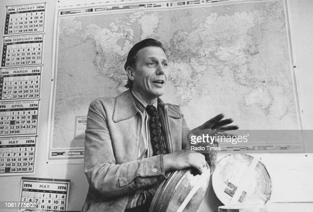Television presenter David Attenborough pictured following his appointment as the new controller of BBC 2, photographed for Radio Times in connection...