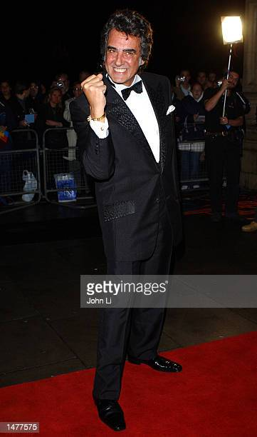 Television presenter David Dickinson arrives for the National Television Awards held at the Royal Albert Hall Kensington October 15 2002 in London...
