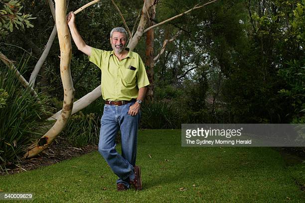 Television presenter Don Burke in his garden at Kenthurst, 4 February 2004. SMH Picture by STEPHEN BACCON