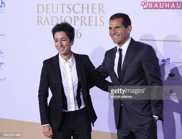 Television presenter Dunja Hayali and Mitri Sirin arrive at the German Radio Prize awards ceremony in Hamburg Germany 06 October 2016 Photo Georg...