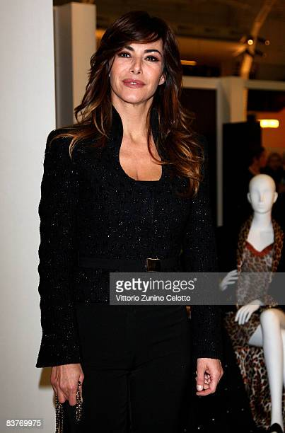 Television Presenter Emanuela Folliero attends Bespoke Luxury Goods Fair Opening Party on November 20 2008 in Milan Italy