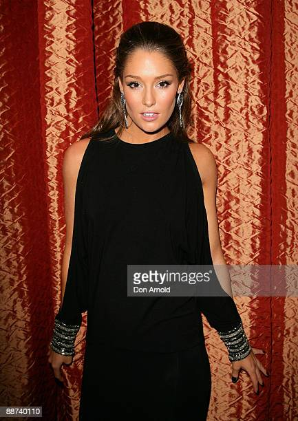 Television presenter Erin McNaught attends the Time Out Sydney Bruno Premiere after party at Zeta Bar at the Hilton Hotel on June 29 2009 in Sydney...