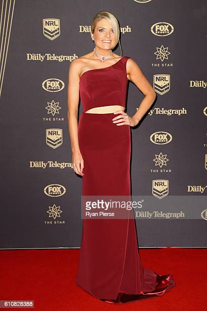 Television presenter Erin Molan arrives at the 2016 Dally M Awards at Star City on September 28 2016 in Sydney Australia