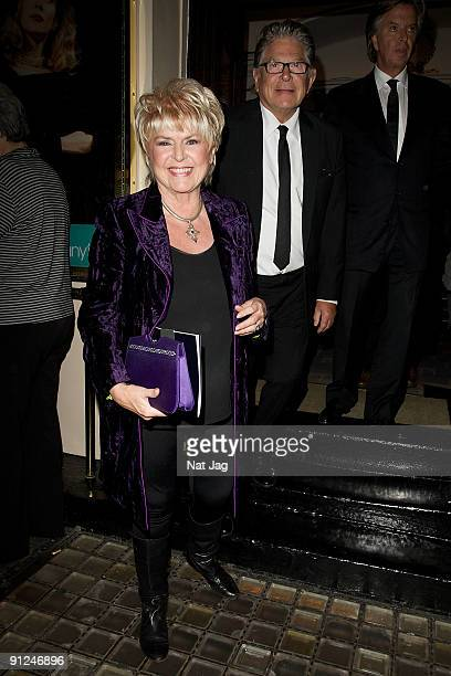 Television presenter Gloria Hunniford and her husband hairdresser Stephen Way leave the press night for Breakfast at Tiffany's at the Haymarket...