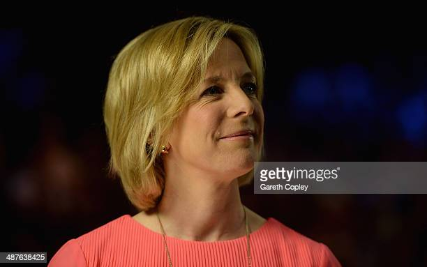 BBC television presenter Hazel Irvine during The Dafabet World Snooker Championship at Crucible Theatre on May 1 2014 in Sheffield England