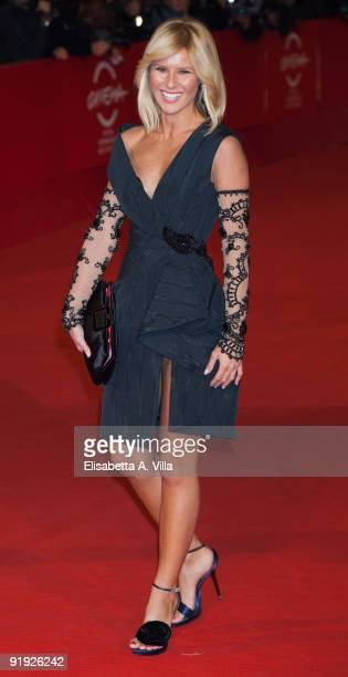 Television presenter Ingrid Muccitelli attends the 'Triage' premiere during Day 1 of the 4th Rome International Film Festival held at the Auditorium...