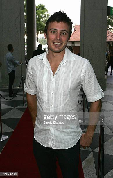 Television presenter James Tobin arrives for the premiere of 'Beautiful' at Dendy Opera Quays on February 25 2009 in Sydney Australia
