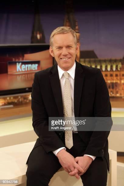 Television presenter Johannes B Kerner poses during the 'Kerner' photocall on October 30 2009 in Hamburg Germany His new TV show 'Kerner' starts in...
