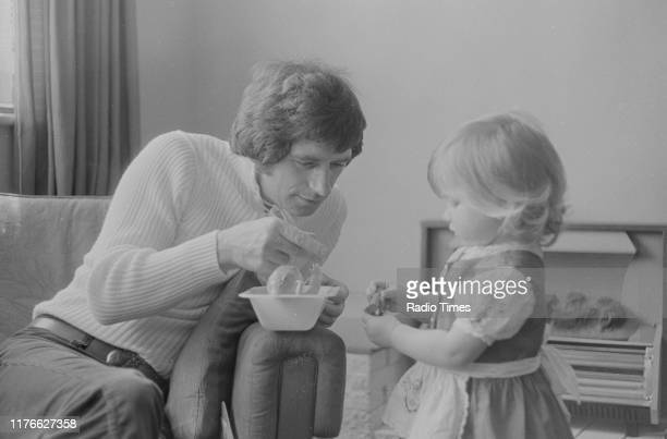 Television presenter Johnny Ball with his daughter Zoe interviewed at his home for the BBC television series 'Cabbages and Kings' London June 1972