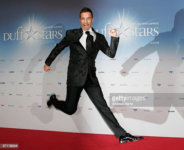 Television presenter Kai Pflaume gestures at the Duft Stars Award ceremony on March 17 2006 at the AxelSpringer building in Berlin Germany